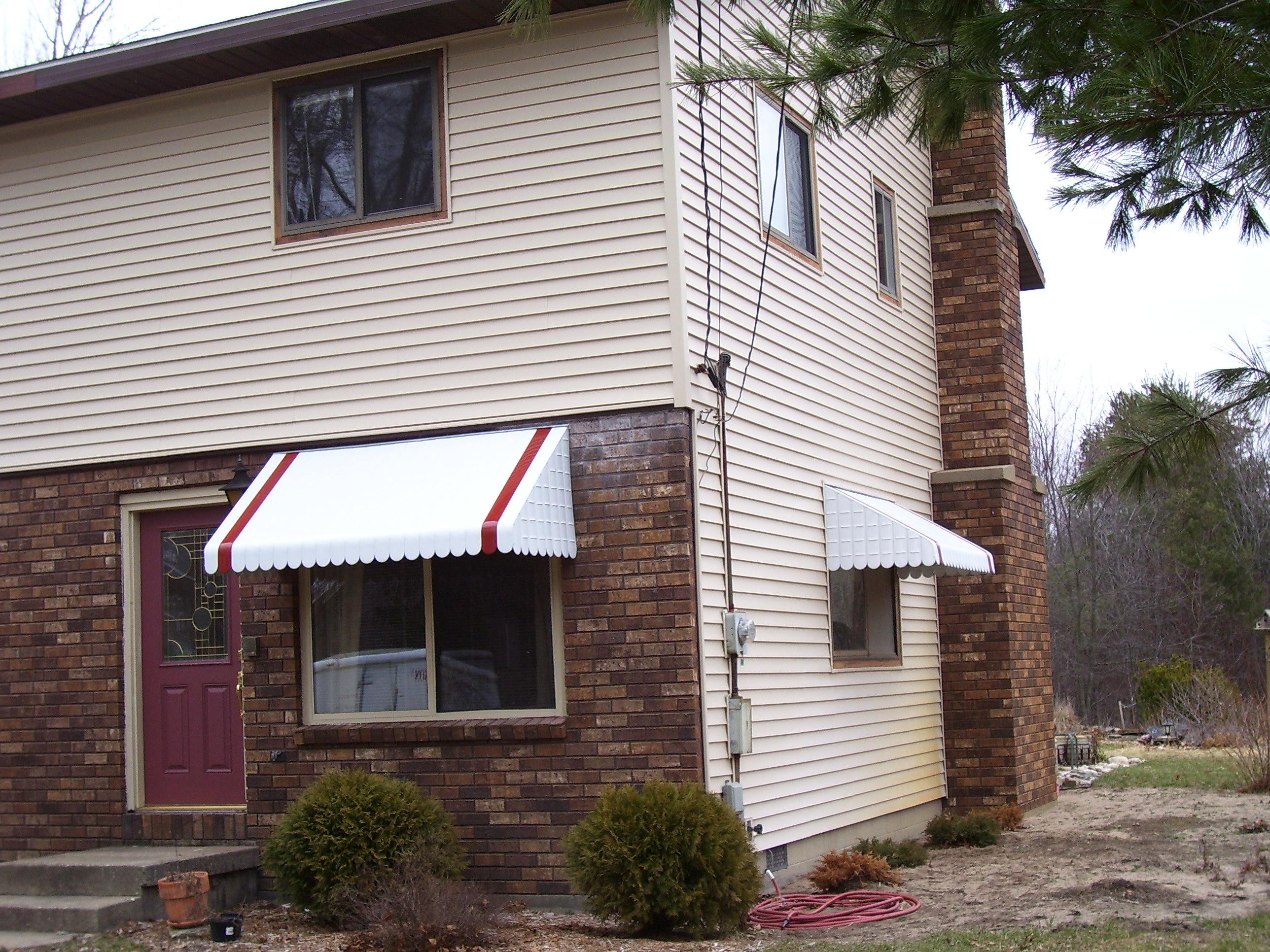 Home metal window awnings 01