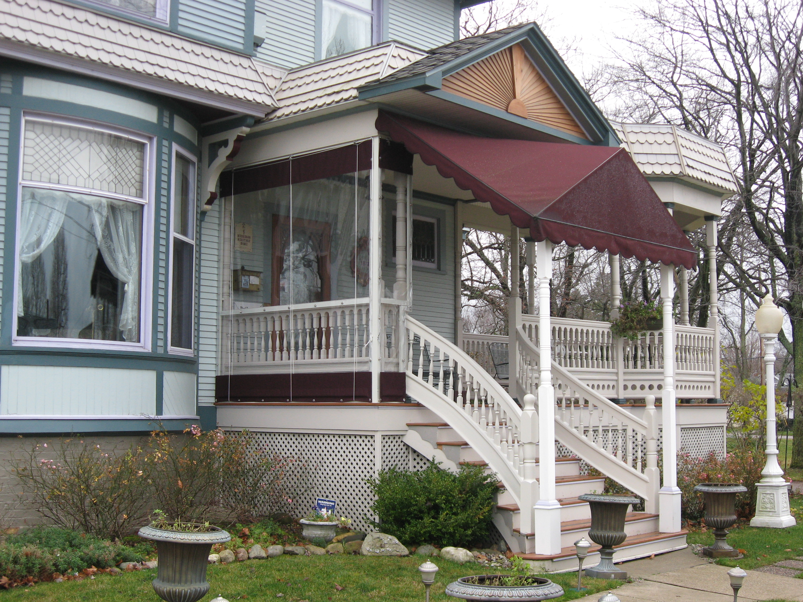 Front Entrance Doorway Awnings | Muskegon Awning