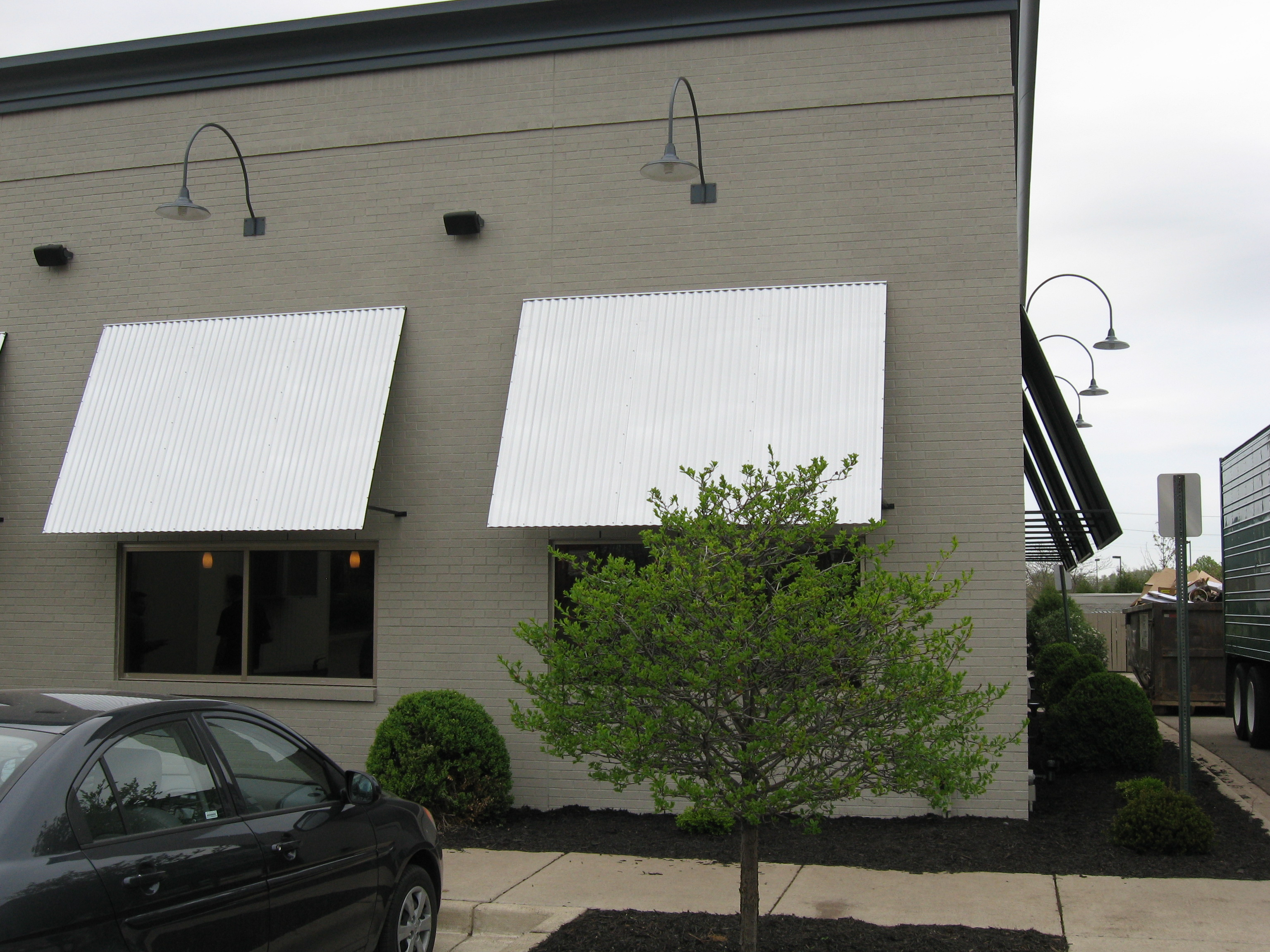 Window Awnings For Commercial Business Muskegon Awning