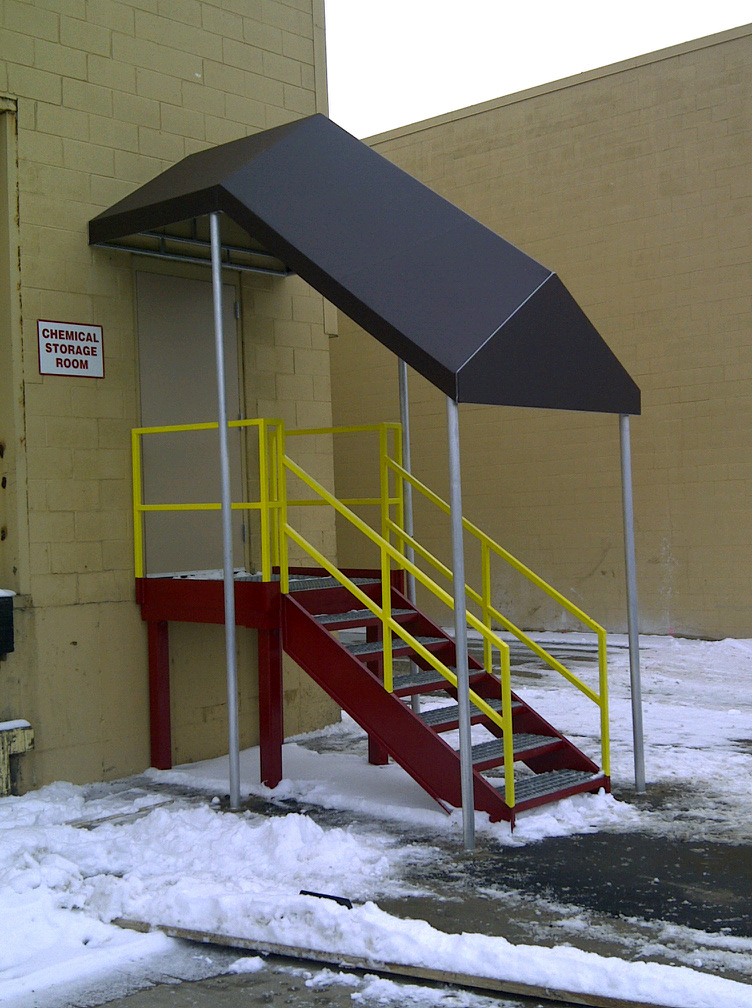 Covered Walkway Entrance Enclosures Muskegon Awning